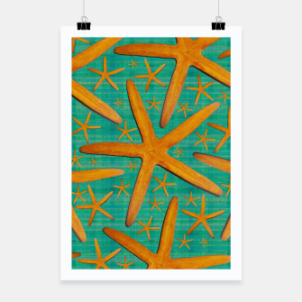 "Miniaturka ""Starfish in Turquoise and Mustard"" Cartel, Live Heroes"
