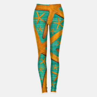 "Miniaturka ""Starfish in Turquoise and Mustard"" Leggings, Live Heroes"