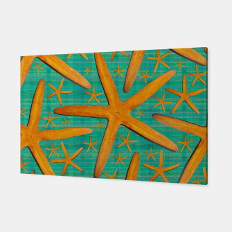 "Imagen en miniatura de ""Starfish in Turquoise and Mustard"" Canvas, Live Heroes"