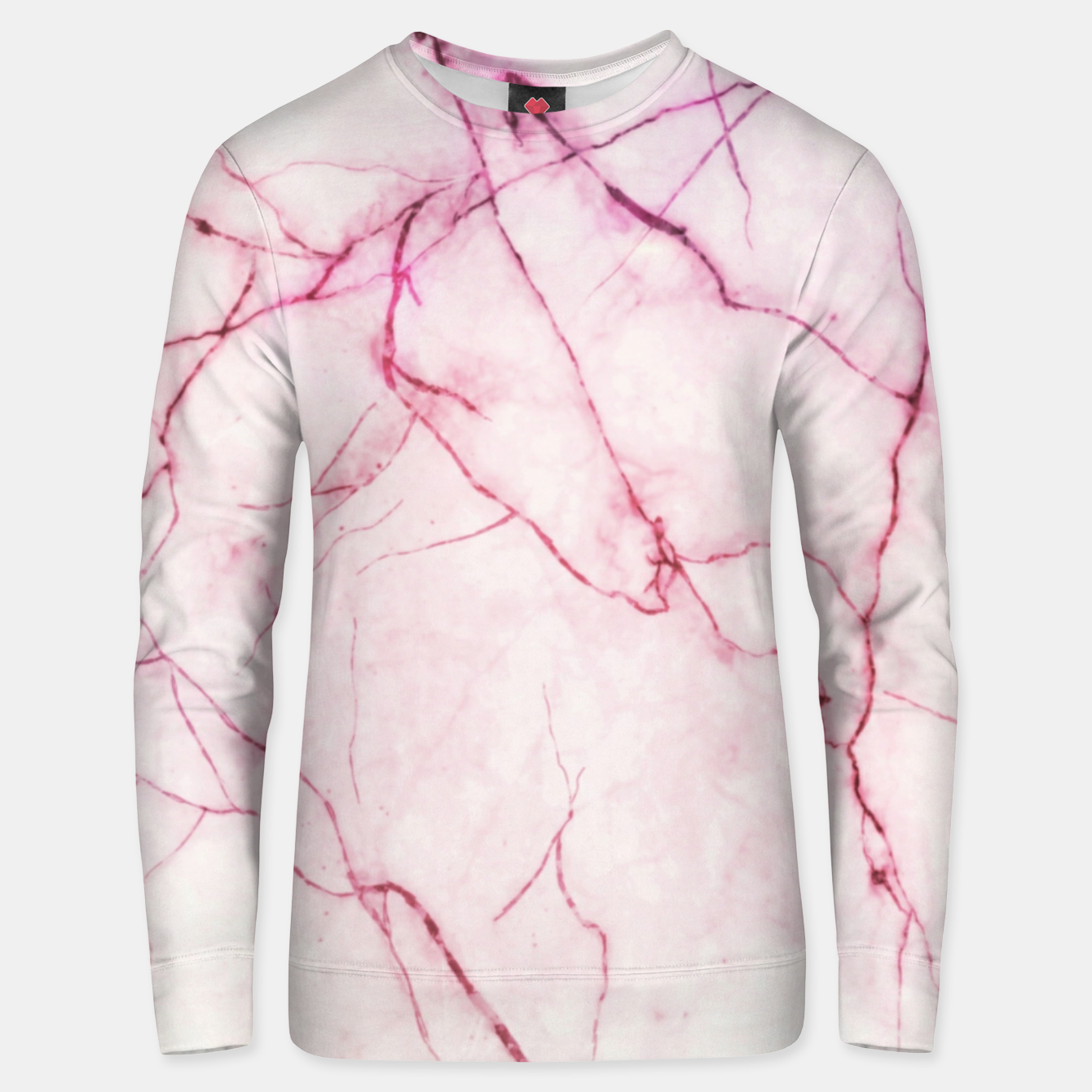Image of Pink marble Unisex sweater - Live Heroes