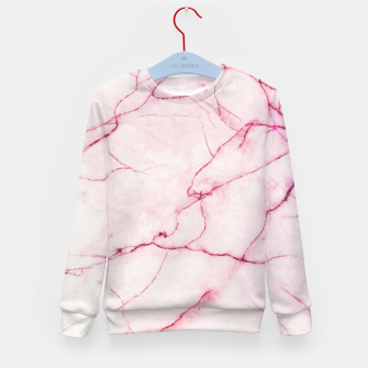 Thumbnail image of Pink marble Kid's sweater, Live Heroes
