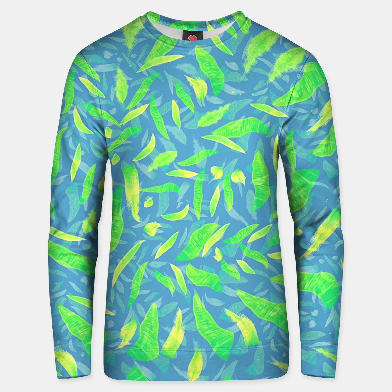 Image of Green Splats on Blue Unisex sweater - Live Heroes