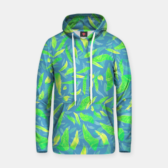 Green Splats on Blue Hoodie thumbnail image