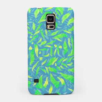 Green Splats on Blue Samsung Case thumbnail image