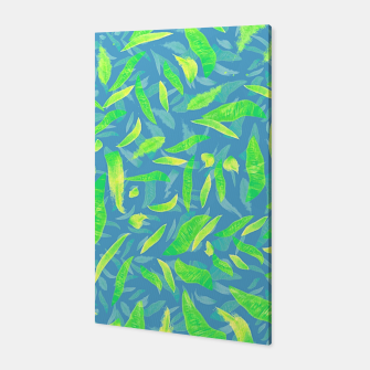 Thumbnail image of Green Splats on Blue Canvas, Live Heroes