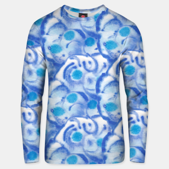 Thumbnail image of Blue floral  Unisex sweatshirt, Live Heroes