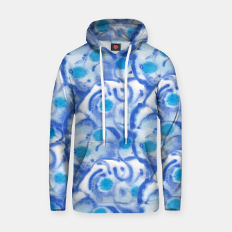 Thumbnail image of Blue floral  Kapuzenpullover, Live Heroes