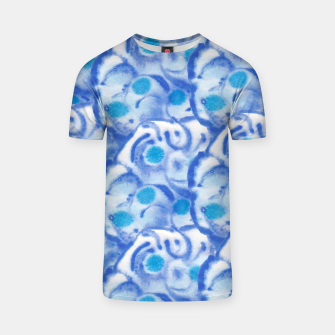 Thumbnail image of Blue floral  T-Shirt, Live Heroes