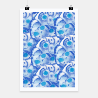 Thumbnail image of Blue floral  Plakat, Live Heroes