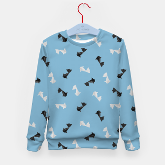 Thumbnail image of Black and White Origami Fish Pattern Kindersweatshirt, Live Heroes
