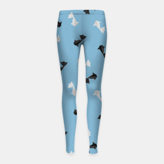 Thumbnail image of Black and White Origami Fish Pattern Kinder-Leggins, Live Heroes