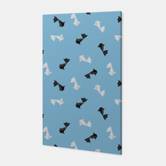 Thumbnail image of Black and White Origami Fish Pattern Canvas, Live Heroes