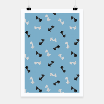 Thumbnail image of Black and White Origami Fish Pattern Plakat, Live Heroes