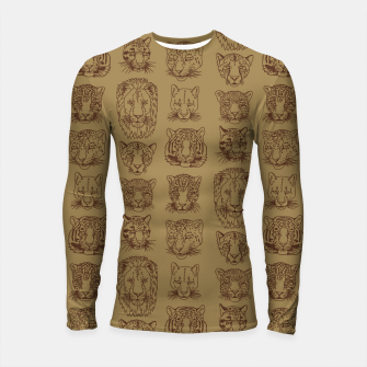 Kickass Kitties - savanna Longsleeve rashguard  thumbnail image