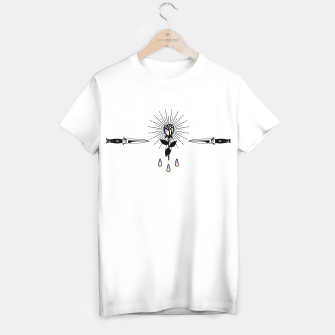 Miniatur Rose Shining Holographic in Knifes Short-Sleeve Unisex T-Shirt, Live Heroes
