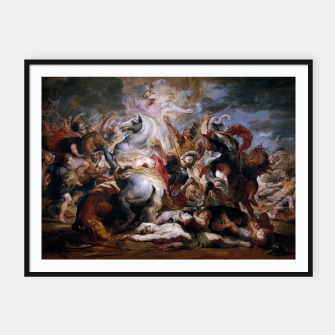Thumbnail image of Morte di Decio Mure (Bozzetto) by Peter Paul Rubens Framed poster, Live Heroes