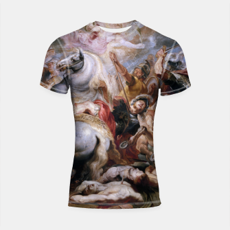 Thumbnail image of Morte di Decio Mure (Bozzetto) by Peter Paul Rubens Shortsleeve rashguard, Live Heroes