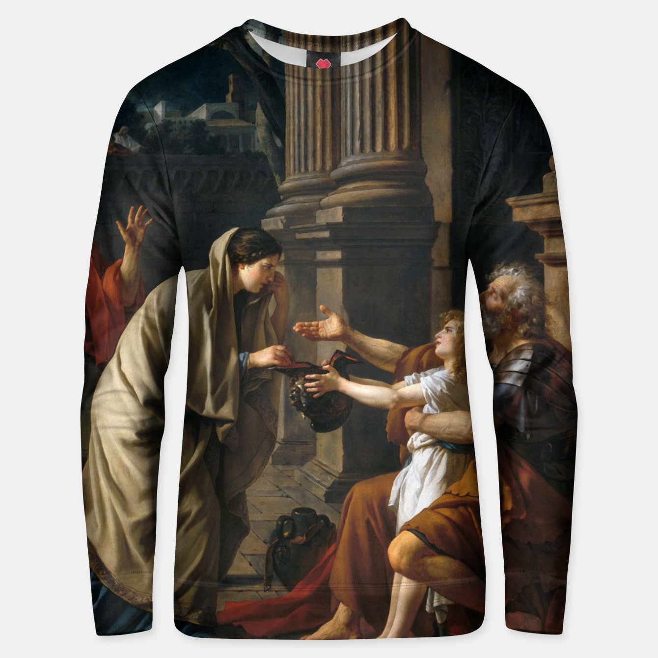 Image of Belisarius by Jacques Louis David Unisex sweater - Live Heroes