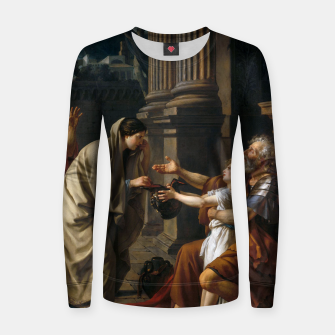 Thumbnail image of Belisarius by Jacques Louis David Women sweater, Live Heroes