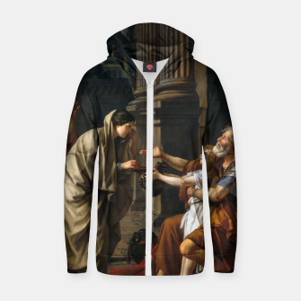 Belisarius by Jacques Louis David Zip up hoodie thumbnail image
