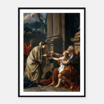 Miniaturka Belisarius by Jacques Louis David Framed poster, Live Heroes
