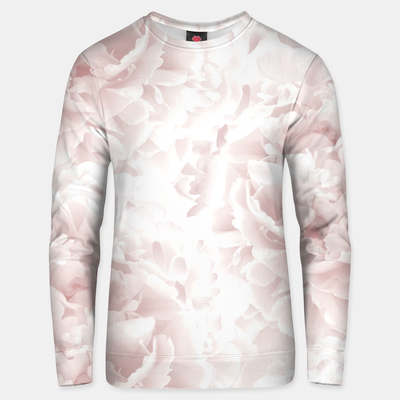 Image of Blush Rose Peonies Dream #1 #floral #decor #art Unisex sweatshirt - Live Heroes