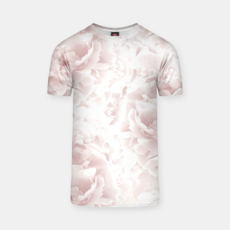 Miniatur Blush Rose Peonies Dream #1 #floral #decor #art T-Shirt, Live Heroes