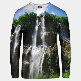 veliki slap waterfall 2 plitvice lakes national park croatia std Unisex sweater thumbnail image