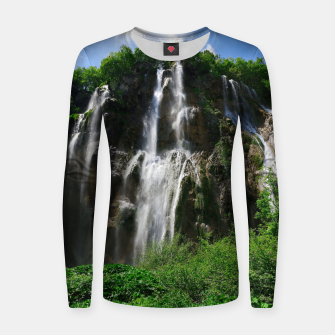 veliki slap waterfall 2 plitvice lakes national park croatia std Women sweater thumbnail image