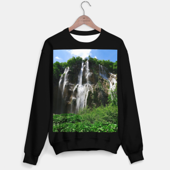 veliki slap waterfall 2 plitvice lakes national park croatia std Sweater regular thumbnail image