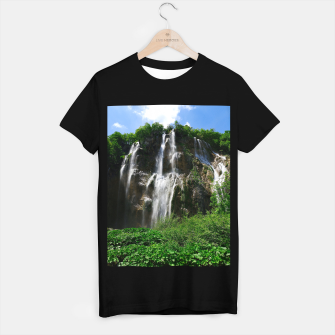 veliki slap waterfall 2 plitvice lakes national park croatia std T-shirt regular thumbnail image