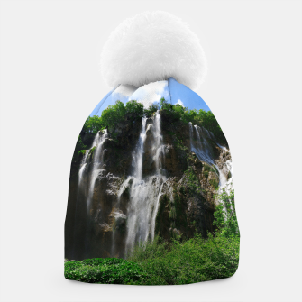 veliki slap waterfall 2 plitvice lakes national park croatia std Beanie thumbnail image