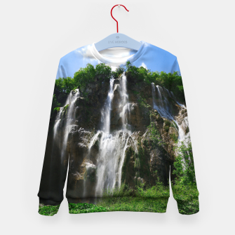 veliki slap waterfall 2 plitvice lakes national park croatia std Kid's sweater thumbnail image