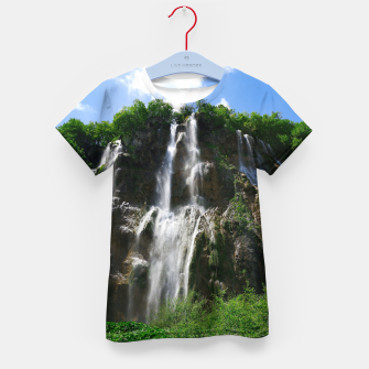veliki slap waterfall 2 plitvice lakes national park croatia std Kid's t-shirt thumbnail image