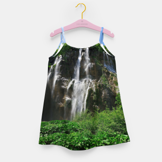 veliki slap waterfall 2 plitvice lakes national park croatia std Girl's dress thumbnail image