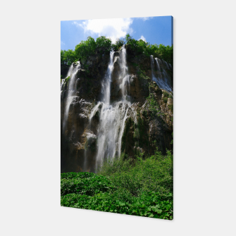 veliki slap waterfall 2 plitvice lakes national park croatia std Canvas thumbnail image
