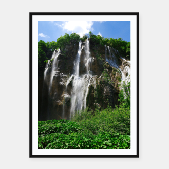 veliki slap waterfall 2 plitvice lakes national park croatia std Framed poster thumbnail image