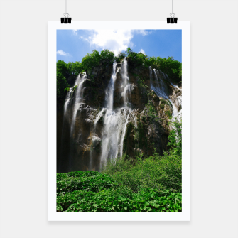 veliki slap waterfall 2 plitvice lakes national park croatia std Poster thumbnail image