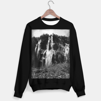 Miniaturka veliki slap waterfall 2 plitvice lakes national park croatia bw vintage Sweater regular, Live Heroes