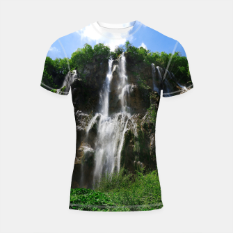 veliki slap waterfall 2 plitvice lakes national park croatia std Shortsleeve rashguard thumbnail image