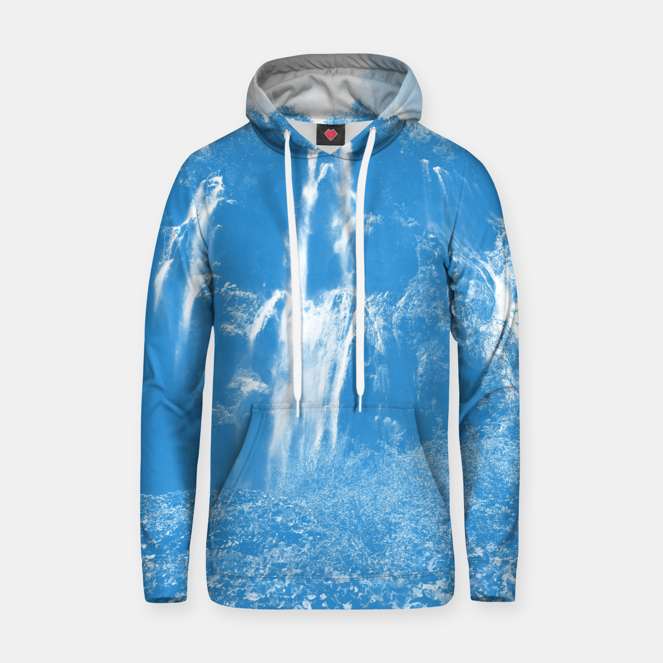 Image of veliki slap waterfall 2 plitvice lakes national park croatia wb Hoodie - Live Heroes