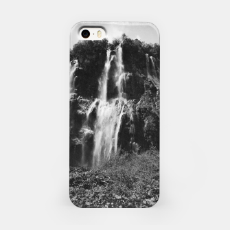 Miniaturka veliki slap waterfall 2 plitvice lakes national park croatia bw vintage iPhone Case, Live Heroes