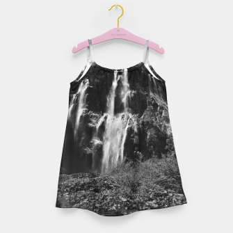 Miniaturka veliki slap waterfall 2 plitvice lakes national park croatia bw vintage Girl's dress, Live Heroes