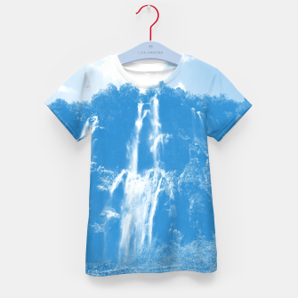 veliki slap waterfall 2 plitvice lakes national park croatia wb Kid's t-shirt thumbnail image