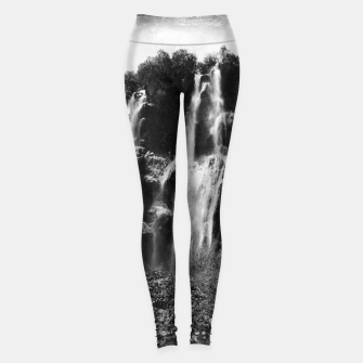 Miniaturka veliki slap waterfall 2 plitvice lakes national park croatia bw vintage Leggings, Live Heroes