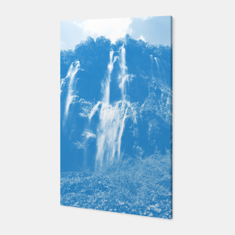 veliki slap waterfall 2 plitvice lakes national park croatia wb Canvas thumbnail image