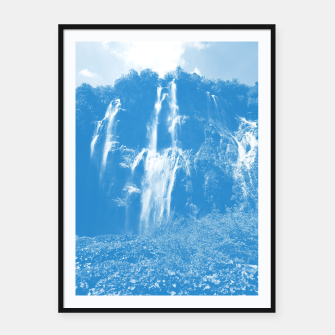 veliki slap waterfall 2 plitvice lakes national park croatia wb Framed poster thumbnail image