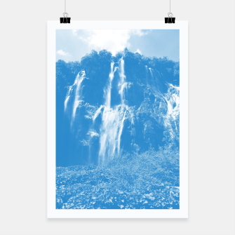 veliki slap waterfall 2 plitvice lakes national park croatia wb Poster thumbnail image