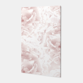 Miniatur Blush Rose Peonies Dream #1 #floral #decor #art Canvas, Live Heroes