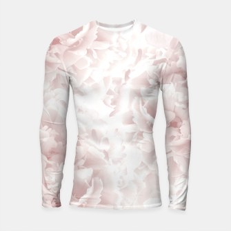 Miniatur Blush Rose Peonies Dream #1 #floral #decor #art Longsleeve rashguard, Live Heroes